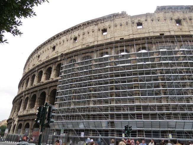 Roma Coliseo andamios
