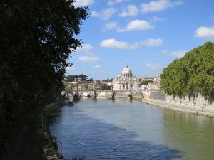 Tevere y Basílica de San Pedro